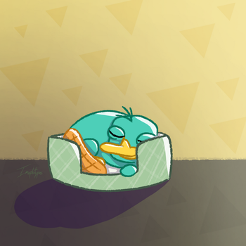 Resting Perry by Imaplatypus