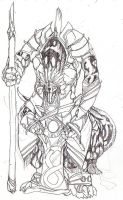 Echiszer warrior sketch by riard