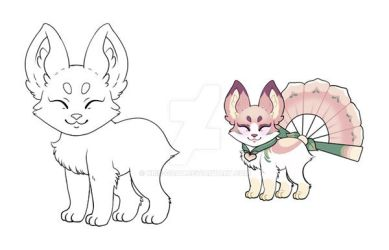 OPEN | Fox, Cat, or simular Pagedoll YCH by Kris-Goat