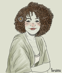 [commission] girl with a flower in her hair by Toraimu