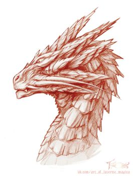Dragon head by Laterne-Magica