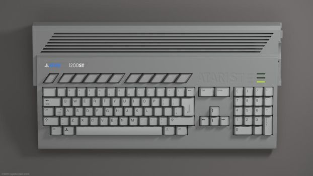 Atari ST and Amiga 1200 remixed in 3D by zgodzinski