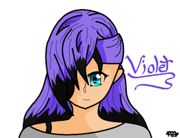 Violet  (My oc) by MichiBby