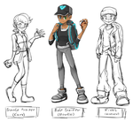 Pokemon Trainers Kara, Markus And Connor (WIP) by thegreatrouge