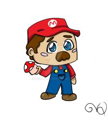 Mario Chibi by QueenLionz