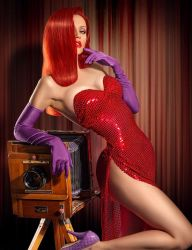 Jessica Rabbit Cosplay Pinup by CaptPatriot2020