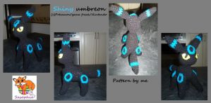 Shiny umbreon crochet plush by Sasophie