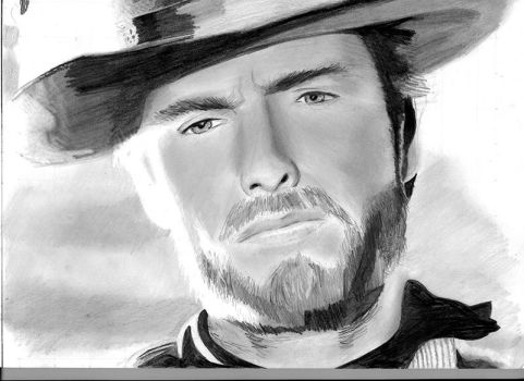 Clint Eastwood WIP by PeteOB