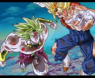Vegetto VS Brolly V2 by Gothax