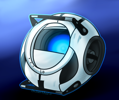 Wheatley (SpeedPaint) by ClockworkBunnie