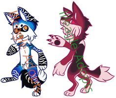 Colourful Dogs AUCTION (1/2) OPEN by Illeagle-Adopts
