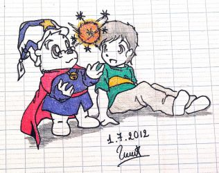 Drawing : Peter and Zummi !! by doraemonbasil