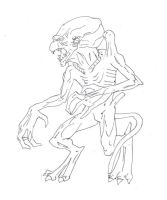 Pumpkinhead drawing by electronicdave