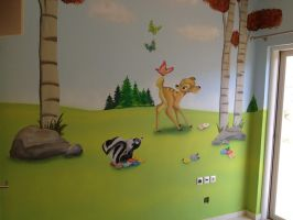 bambi mural by Theatricalarts