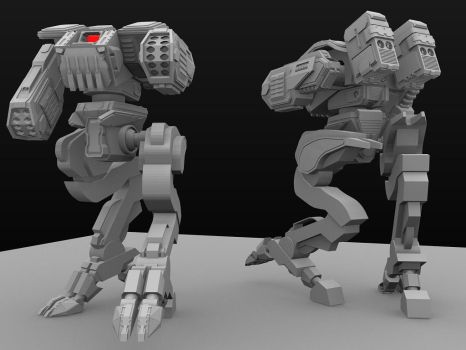 Protector V.01 Mech Wip1 by C91