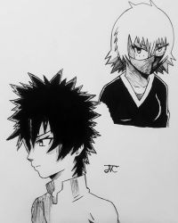 Shin and Nihasu (Inktober)  by MosakeJarakio