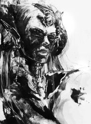 art trade: psion tiefling by agnes-cecile