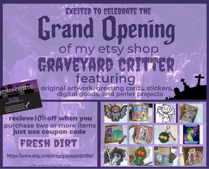 GraveyardCritter Is Now Open On Etsy! by graveyardcritter
