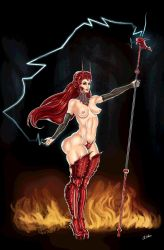 Red sorceress by THOR16000