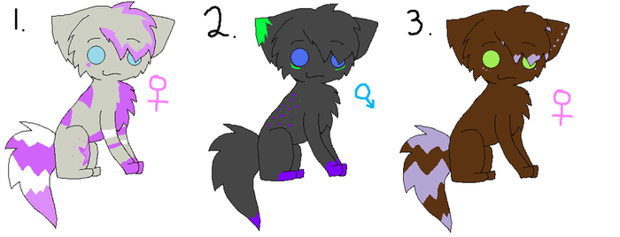 Cat Adoptables -OPEN- by Kumispointadoptables