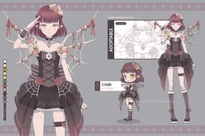 [CLOSED] Adopt08 :: Demon Gothic Loli by Nestery