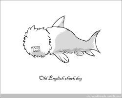 Old English Shark Dog by Wenamun