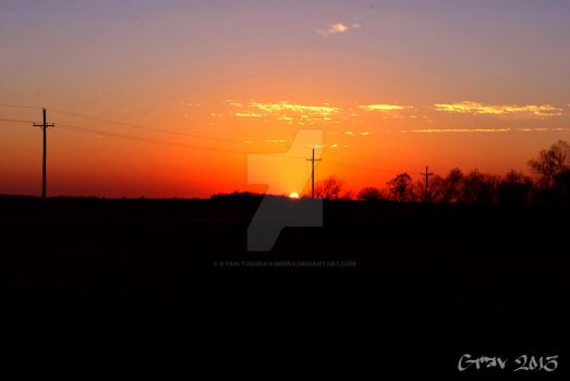 Iowa Sunset by Ryan-TheGrav-Berry