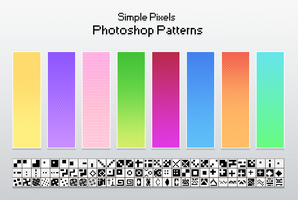 Free Simple Pixels Patterns by Kakiwa