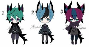 goth dragon adoptable  batch CLOSED by AS-Adoptables