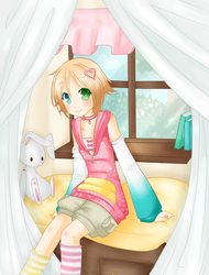 Bunny in the Window by electrorobo