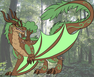 Forest Dragon (AT) by MercenaryBuster