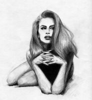Cindy Crawford Sketch by ninjason57
