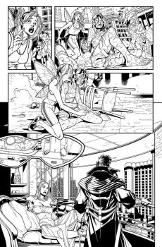 X-men 1 page 5  Inks by ElVlasco
