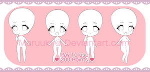 P2U Chibi Base 200 points by Maruuki
