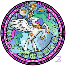 Stained Glass: Celestia -take 2- by Akili-Amethyst
