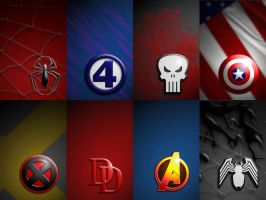 Marvel Logos Wallpaper Pack by BadlyDrawnDuck