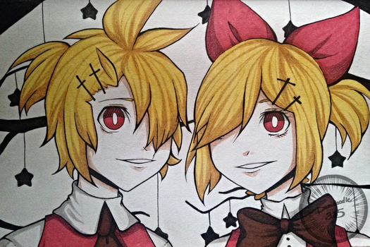 [Kagamine Rin and Len] Club Nightmare by Danidoodle325