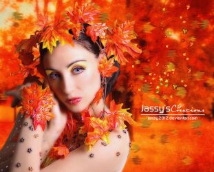 Autumn Lady - Animation Falling Leaves by JassysART