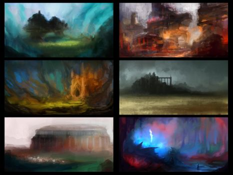Environment sketches 2 by pav327
