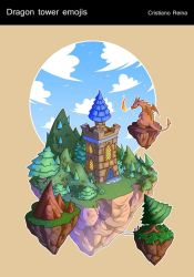 Dragon tower icon by CristianoReina
