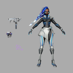 Sombra Cyberpunk skin download .fbx .c4d by Vorineer