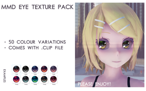 MMD eye texture pack by Relomi