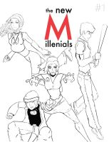 Millenials cover lineart by schris91