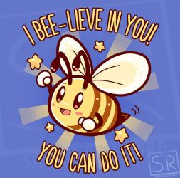 Bee-lieve in yourself - TechraNova design by SarahRichford
