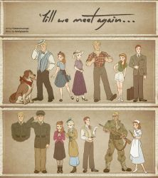 Till We Meet Again - Character Outfits by NightLiight
