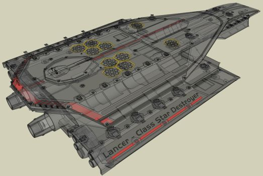 Lancer Star Destroyer X-Ray by SCARECROW1138