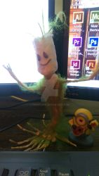 MyGroot and MyMinion by Phwriter11