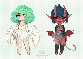 Angel and Demon: Point Auction (closed) by mint-muffin