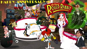 Happy 25th Anniversary, Roger Rabbit! by AverageJoeArtwork