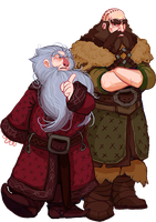 The Hobbit, Balin and Dwalin by Art-Calavera